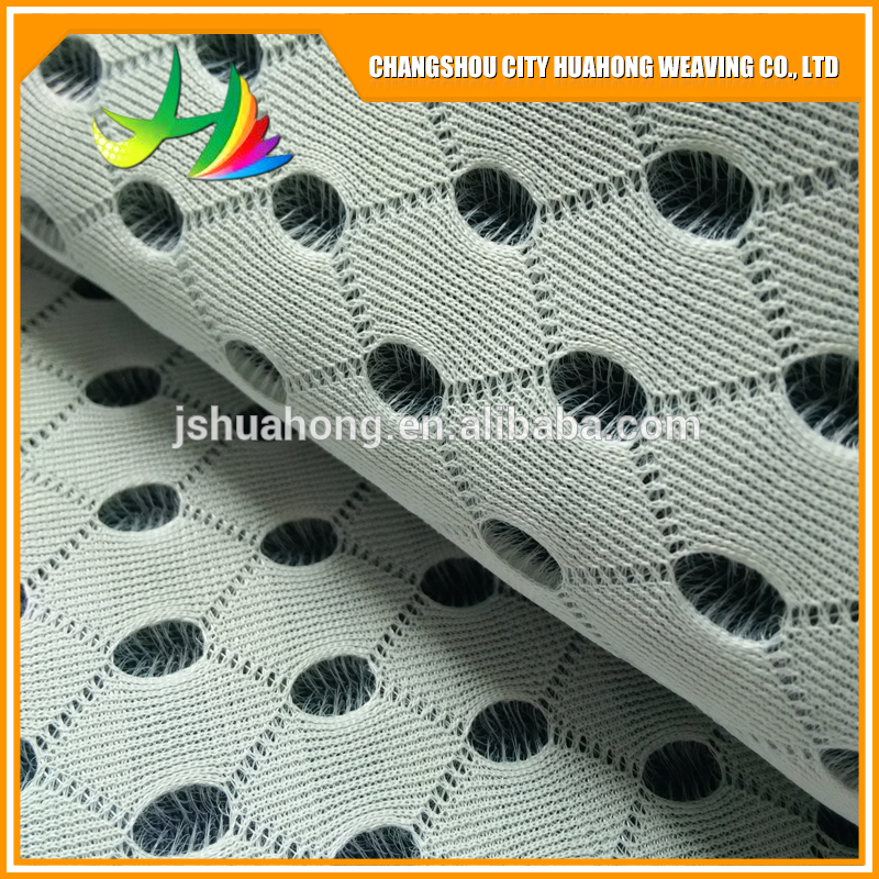 4D air mesh black and white,100% polyester knit fabric