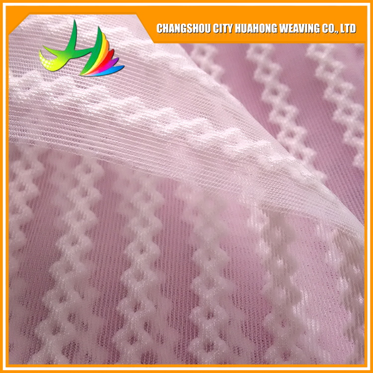 3D transparent air fabric, polyester warp knitted ,eyelet fabric