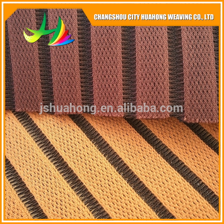 Color sandwich 3D air fabric for beach chairs,polyester warp knitted sandwich spacer 3D air mesh fabric