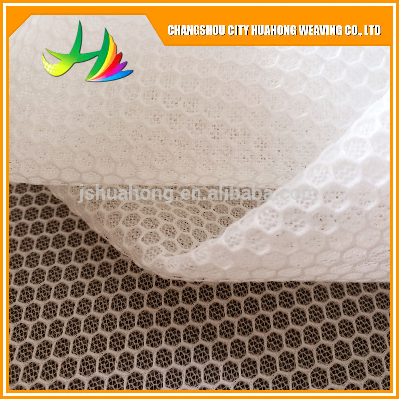 3D clothing polyester fiber mesh, nylon cold felt mash fabric