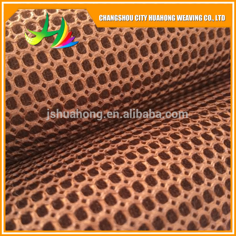 Factory sell 3D 100% polyester mesh fabric,eyelet fabric,square mesh