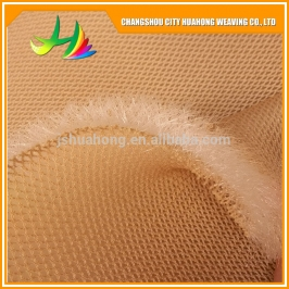 Massage net polyester sandwich air mesh fabric for Helmet, bed, sand pad, foot pad, mat