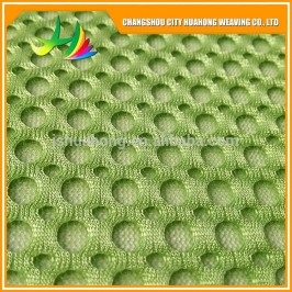 3D 100% polyester mesh fabric, mesh fabric for White and green mesh fabric eco friendly