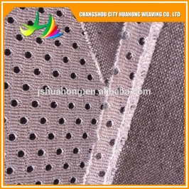 100% polyester knit fabric,backing coating,rubber patch,new kind of sandwich mesh fabric