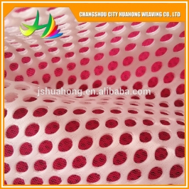 100% polyester Double air sandwich fabric,sandwich fabricfabric mesh for shoes hometextile