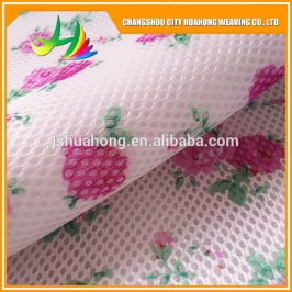 Huahong weaving Printed 3D mesh fabric 100% polyester knit fabric